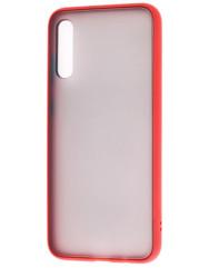Чехол LikGus Maxshield матовый Samsung Galaxy A70 (красный)