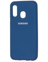 Чехол Silky Samsung Galaxy A20/A30 (темно-синий)