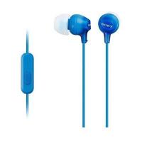 Вакуумные наушники-гарнитура Sony EX-15AP Original (синий)