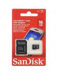 Карта памяти SanDisk Ultra microSD 16gb (10cl) + adapter