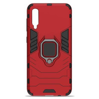 Чехол Armor + подставка Samsung Galaxy A70 (красный)