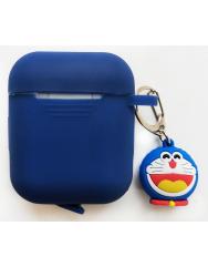 Чохол для Airpods силіконовий з іграшкою (синій)