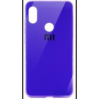 Чехол Glass Case Brand Huawei P Smart Plus  (фиолетовый)