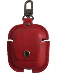 Чохол для AirPods Pro Colors з карабіном шкіра (червоний)