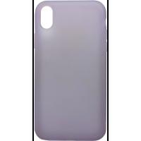Чехол силиконовый Latex матовый iPhone XR (лаванда)