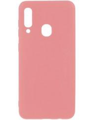 Чехол Silicone Case Lite Samsung Galaxy A20s (розовый)