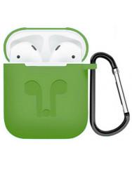 Чохол для AirPods Colors з карабіном (зелений)
