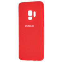 Чехол Silicone Case Samsung Galaxy S9 (красный)