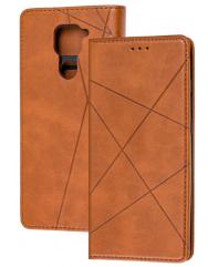 Книга Business Leather Xiaomi Redmi Note 9 (коричневий)