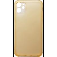 Чехол усиленный матовый iPhone 11 (желтый)