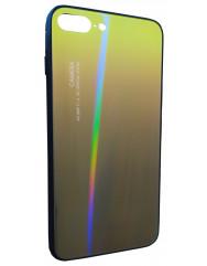 Чохол Glass Case Gradient iPhone 7/8 Plus (жовтий-чорний)