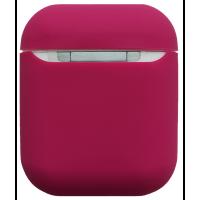 Чехол для Airpods силиконовый (малиновый)