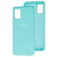 Чехол Silicone Case Samsung Galaxy A51 (голубой)