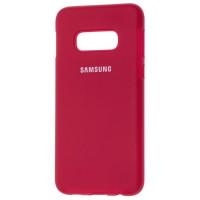 Чехол Silicone Case Samsung S10e (бордовый)