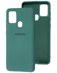 Чехол Silicone Case Samsung Galaxy A21s (темно-зеленый)