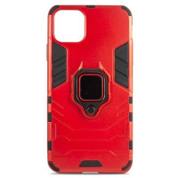 Чехол Armor + подставка iPhone 11 (красный)