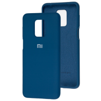 Чехол Silicone Case Xiaomi Redmi Note 9s/9 Pro (синий)