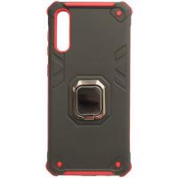 Чехол противоударный техно кожа Samsung Galaxy A50 / A50s / A30s (черно-красный)