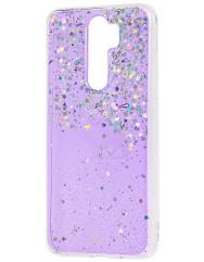 Чохол силіконовий блискітки Xiaomi Redmi Note 8 Pro (фіолетовий)