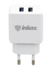 Мережевий зарядний пристрій Inkax CD-01 USB 2in1 iPhone 5/6/7 (5V-2.1 mAh)