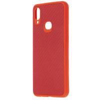 Чехол Premium Carbon Samsung Galaxy A10s (красный)
