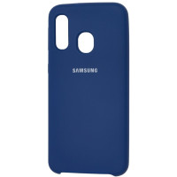 Чехол Silky Samsung Galaxy A40 (темно-синий)
