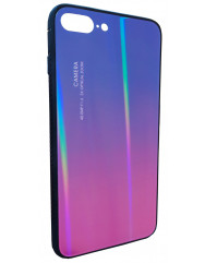 Чохол Glass Case Gradient iPhone 7/8 Plus (синій / рожевий)