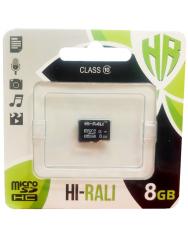 Карта памяти Hi-Rali microSD 8gb (10cl)