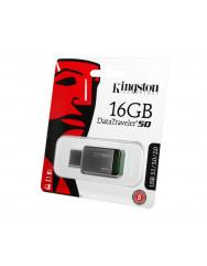 Флешка USB Kingston 16GB USB DT 50 (Metal)
