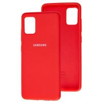 Чехол Silicone Case Samsung Galaxy A51 (красный)