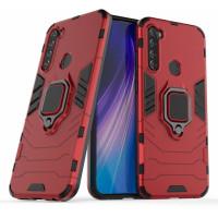 Чехол Armor + подставка Xiaomi Redmi Note 8T (красный)