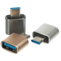 Переходник YHL-T9 Metal Short USB 3.0 OTG Type-C