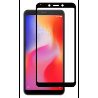 Стекло матовое Xiaomi Redmi 6/6a (9D Black) 0.39mm