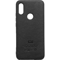 Чехол MI кожа Xiaomi Redmi 7 (черный)