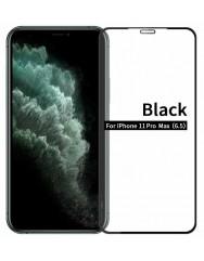 Cкло матове Iphone 11 Pro Max (5D Black) 0.39mm