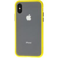 Чехол LikGus Maxshield матовый iPhone XS Max (желто-черный)