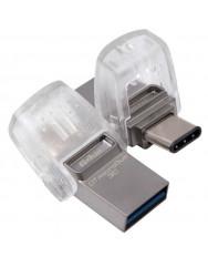 Флешка USB Kingston DT MicroDuo micro Type-C OTG 32Gb (Metal)