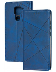 Книга Business Leather Xiaomi Redmi Note 9 (синій)