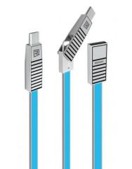 Кабель Remax RC-072th Data cabel 3in1 (синий)