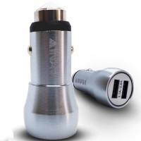 АЗУ INAVI CM-09 (+шнур) Micro-USB 3.1A (серебристый)