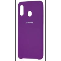Чехол Silky Samsung Galaxy A20/A30 (сиреневый)
