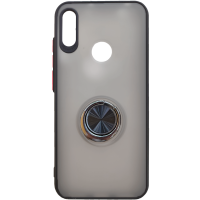 Чехол LikGus Maxshield матовый Huawei Y6 2019/Honor 8a з держателем (черный)