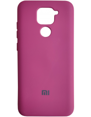 Чехол Silicone Case Xiaomi Redmi Note 9 (бордовый)