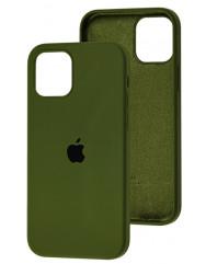 Чохол Silicone Case Iphone 12 Pro Max (хакі)