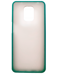 Чехол LikGus Maxshield матовый Xiaomi Redmi Note 9 Pro/Note 9s (зеленый)