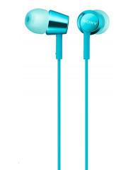 Вакуумні навушники-гарнітура Sony MDR-EX155AP (Blue)