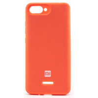 Чехол Silicone Cover Xiaomi Redmi 6a (оранжевый)