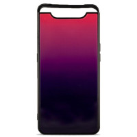 Чехол Glass Case Gradient Samsung Galaxy A80 (Purple Barca)