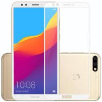 Стекло Huawei Y7-2018 (3D White)
