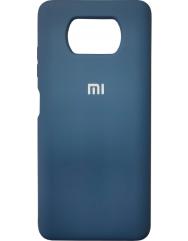 Чехол Silicone Case Xiaomi Poco X3 NFC (темно-синий)